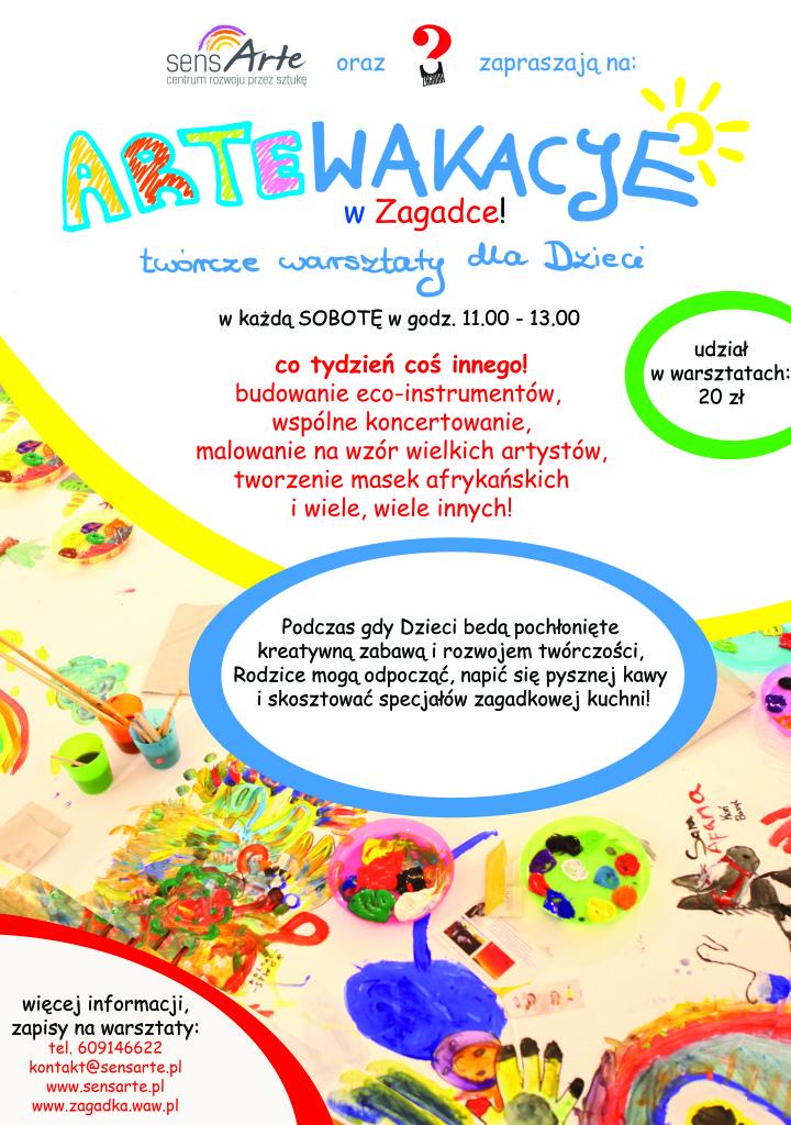 warsztaty dla dzieci w SensARte