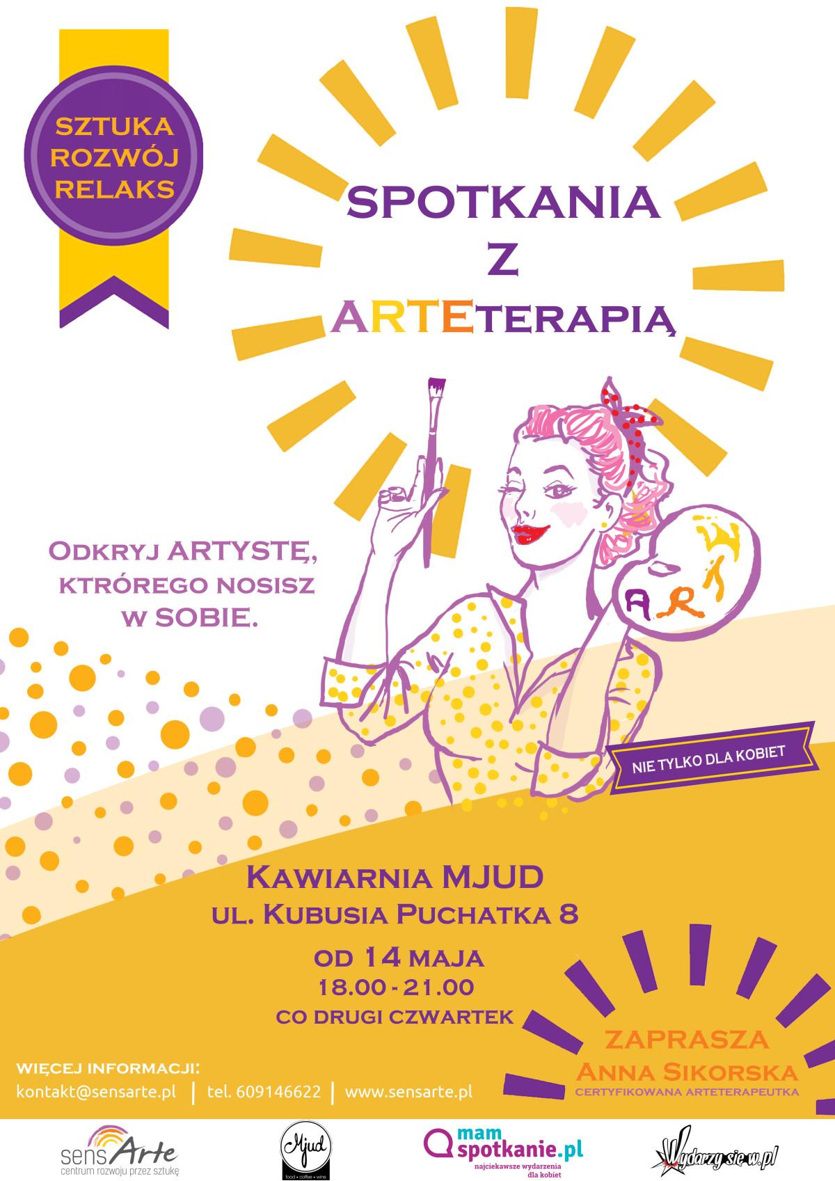 plakat spotkania z arteterapiąOK