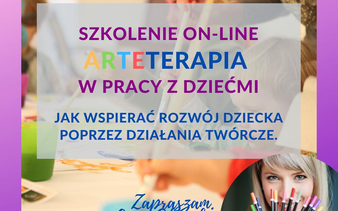 SZKOLENIE ON-LINE – Arteterapia w pracy z dziećmi