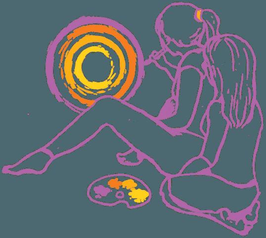 Arteterapeuta prowadzi zajęcia z arteterapii