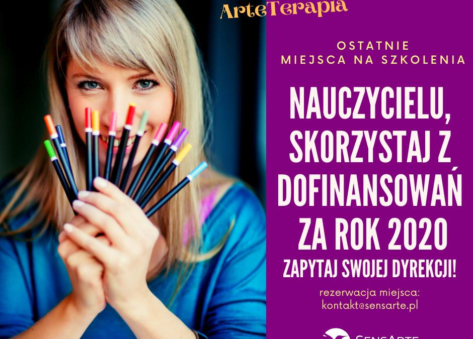SKORZYSTAJ Z DOFINANSOWANIA NA SZKOLENIE ARTETERAPII!